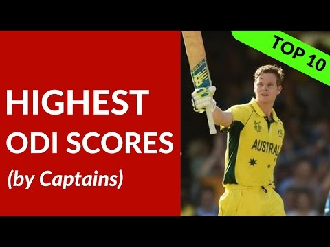 Top 10 Highest ODI Scores by Captains | Sehwag, Sachin, AB de Villiers, Ponting, Steve Smith