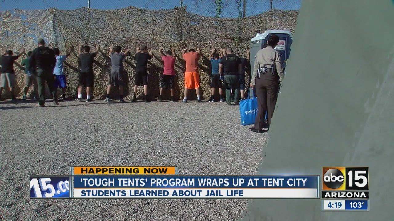 u0027Tough Tentsu0027 program wraps up at Tent City. ABC15 Arizona & Tough Tentsu0027 program wraps up at Tent City - YouTube