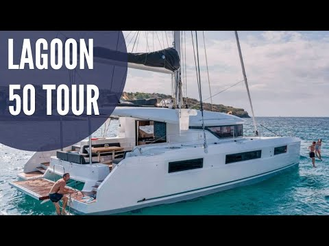 Tour of the NEW Lagoon 50 in Cannes, France