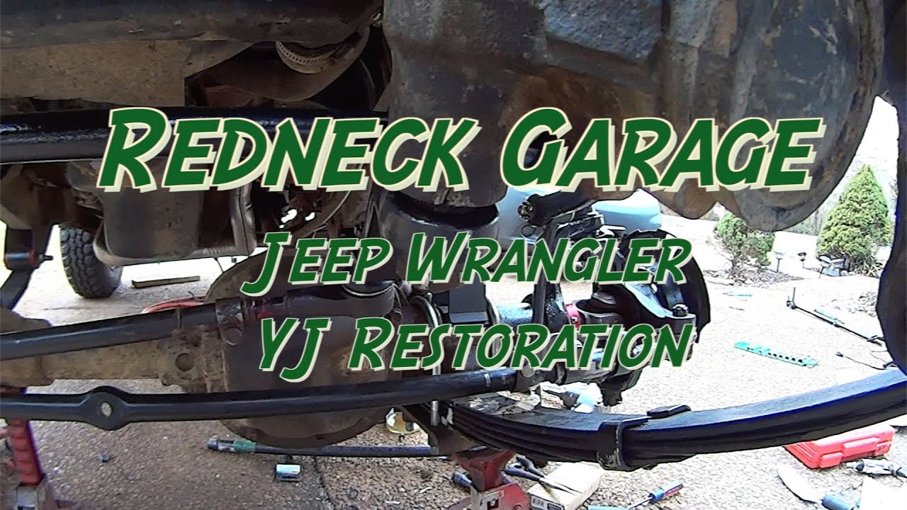 Lifted Jeep Liberty >> Jeep Wrangler YJ Front End Rebuild #3 w/ Ball Joints W/ Tie Rod Ends - YouTube