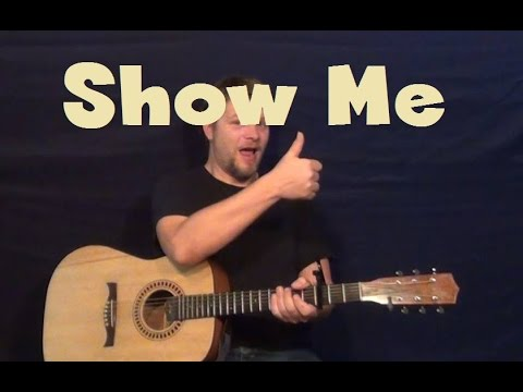 Show Me (Kid Ink ft. Chris Brown) Easy Guitar Lesson How to Play Licks Tutorial