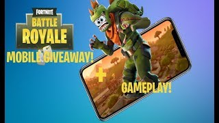 fortnite mobile giveaway!! | Plus mobile gameplay! [Closed]