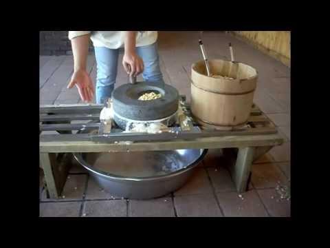 Making tofu in Korea