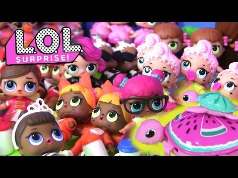LOl Dolls Видео для Детей. МОЯ КОЛЛЕКЦИЯ #ПУПСИКОВ LOL BABY DOLLS. Сюрпризы #Куклы