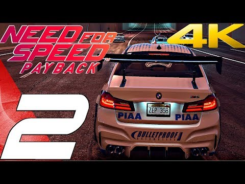 Need For Speed Payback - Gameplay Walkthrough Part 2 - Crew & Customization [4K 60FPS ULTRA]