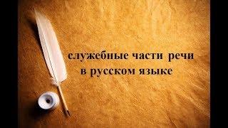 Что такое СЛУЖЕБНЫЕ ЧАСТИ РЕЧИ в русском языке?