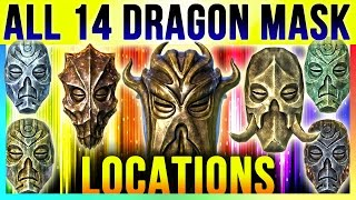 Skyrim All 14 Dragon Priest Mask Locations In Special Edition & DLC Dragonborn (TOP 10 Best Masks)