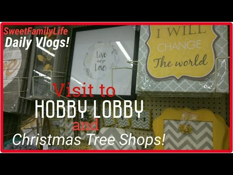 Hobby Lobby & Christmas Tree Shop visit. | Capturing Memories! :D - Daily Vlog #145