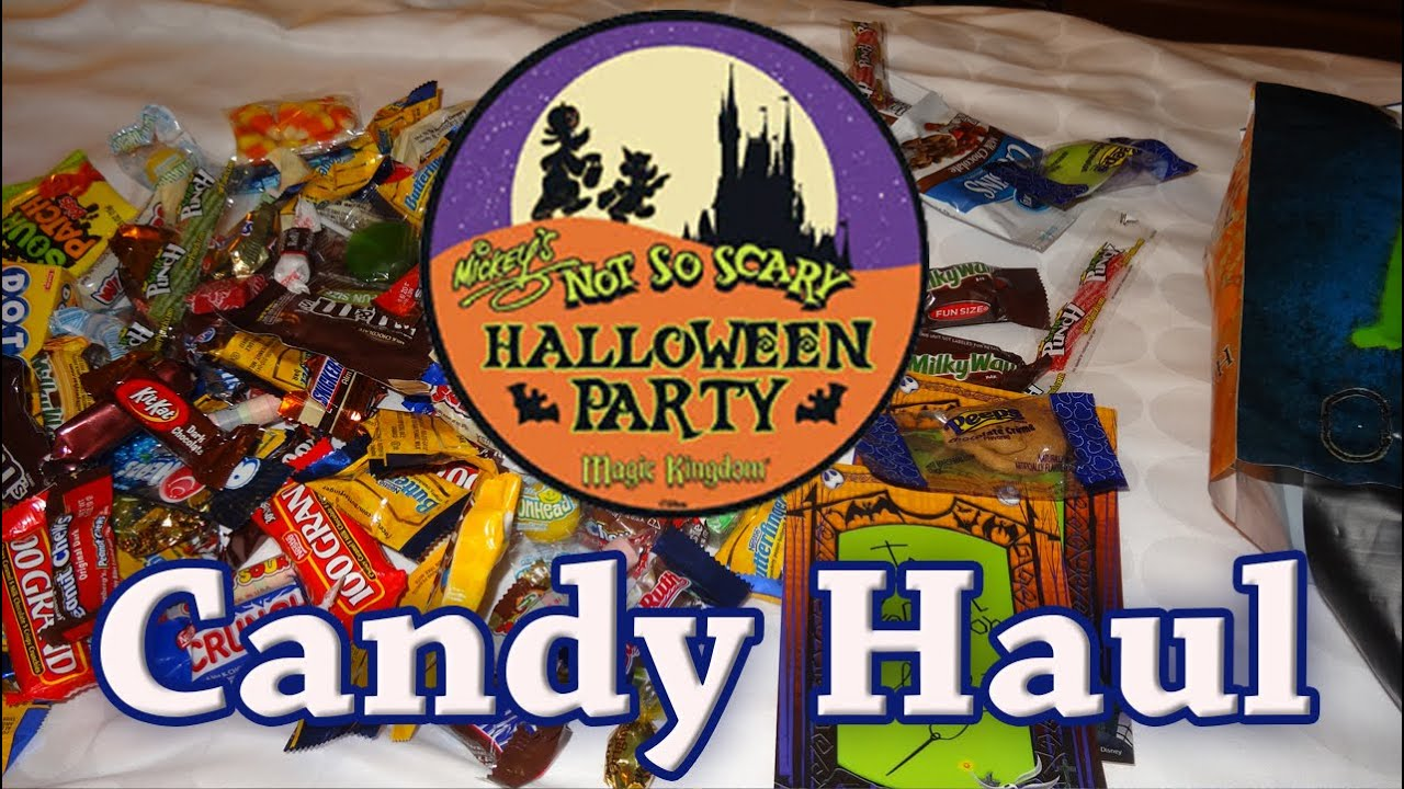 Walt Disney Halloween Candy Haul from Mickey's Not So Scary ...