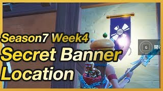 Fortnite - Season 7 Week 4 Secret Banner Location