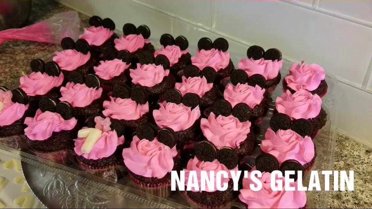 Cupcake De Chocolate Decorados Minnie Mouse