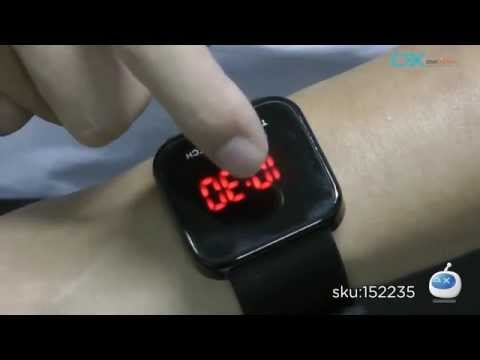 DX: MVP Series LED Red Backlight Touch Screen Wrist Watch