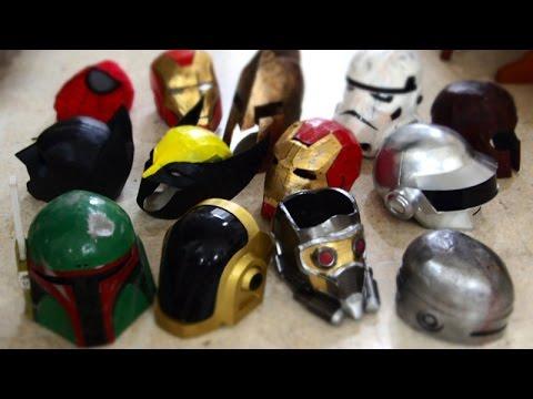 Vlog: Helmet & Mask Compilation 01 | Costume Prop | Dali DIY