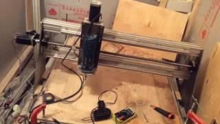 видео Установка тока шаговых двигателей, резонанс