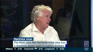 National Secretary Paddy Crumlin on ABC 24 with Tony Eastley defending the jobs of offshore workers