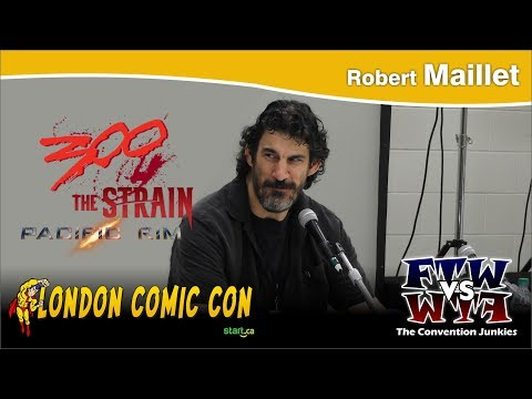 Robert Maillet WWE, 300, The Strain, Pacific Rim, Deadpool 2 London Comic Con Full Panel