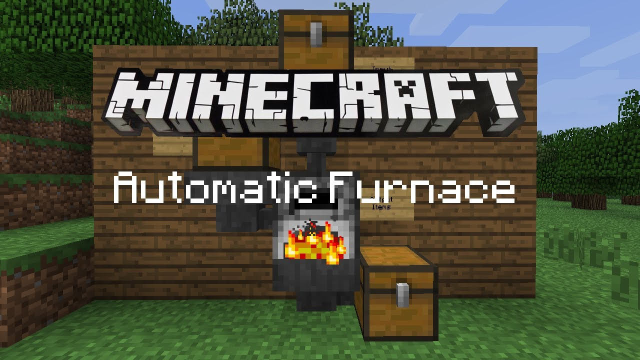 Minecraft Automatic Furnace - YouTube