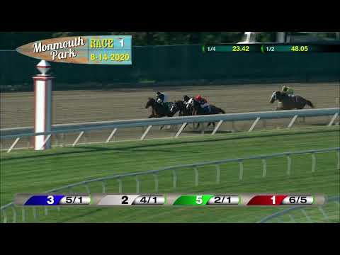 video thumbnail for MONMOUTH PARK 08-14-20 RACE 1