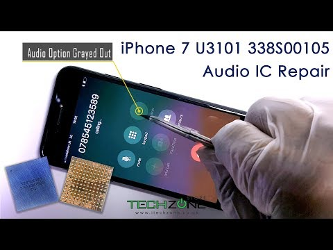 iPhone 7 & Plus Audio issue stuck on Logo Slow Boot No Sound Fix Repair Replace IC U3101 338S00105 Mp3