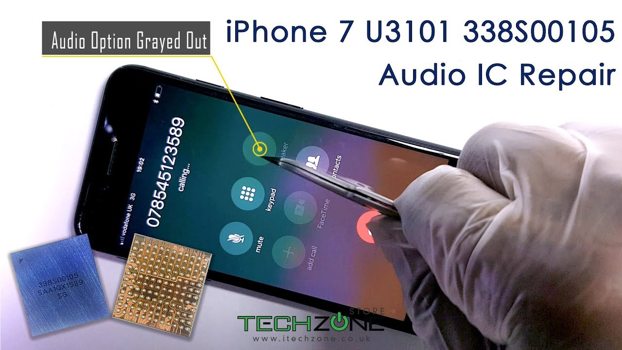 iPhone 7 & Plus Audio issue stuck on Logo Slow Boot No Sound Fix Repair  Replace IC U3101 338S00105