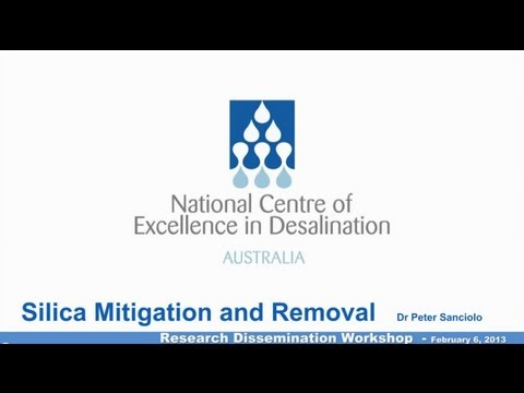 Silica Mitigation and Removal - NCEDA Research Dissemination Workshop 2, 2013