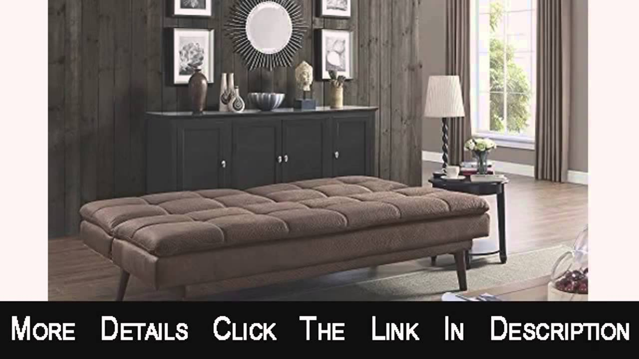 Dhp The Bex Futon Tufted Pillowtop Sleeper Sofa Faux Leather