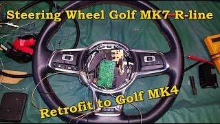 How to Retrofit an Golf MK7 R-line steering wheel to an Golf MK4