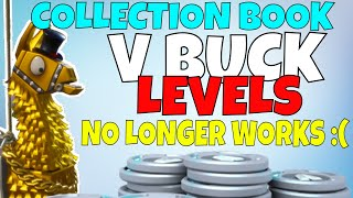 Fortnite - (No Longer Works) ALL V BUCK COLLECTION BOOK LEVELS | Fortnite Save The World