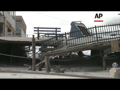 Iconic boardwalk destroyed by storm along with many homes