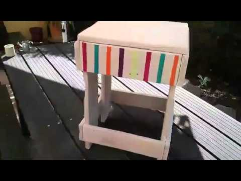 tabouret basic palettes and co youtube. Black Bedroom Furniture Sets. Home Design Ideas