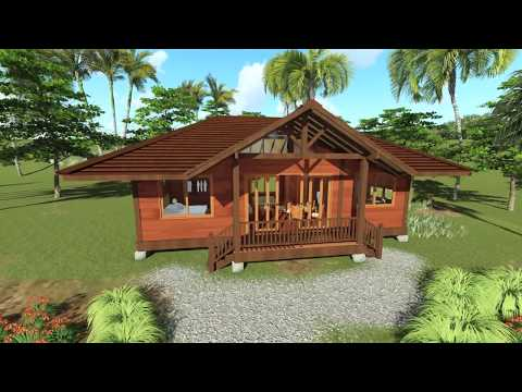 Tropical House Designs - Teak Bali Gandhi Model - 3D Walk-through in HI Res