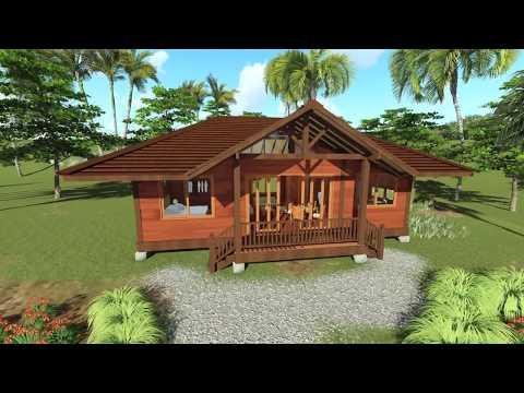 Tropical House Designs - Teak Bali Gandhi Model - 3D Walk-through in HI Res