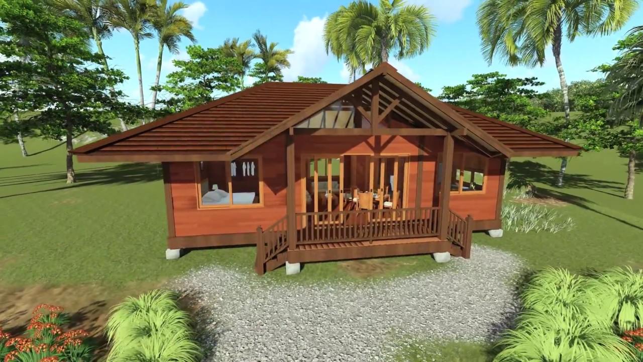 Tropical House Designs Teak Bali Gandhi Model 3d Walk Through In Hi Res Youtube
