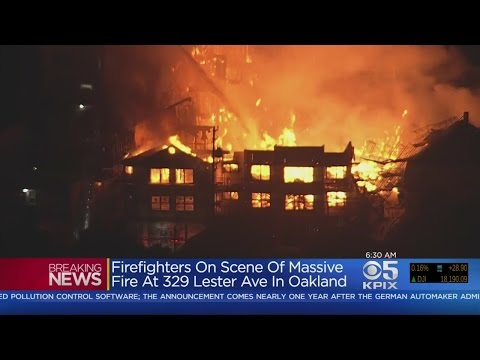 Massive Fire At Oakland Building Under Construction