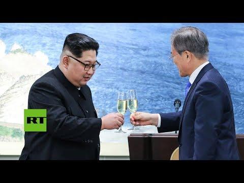 Brindis por las dos Coreas: La cena de la histórica cumbre intercoreana
