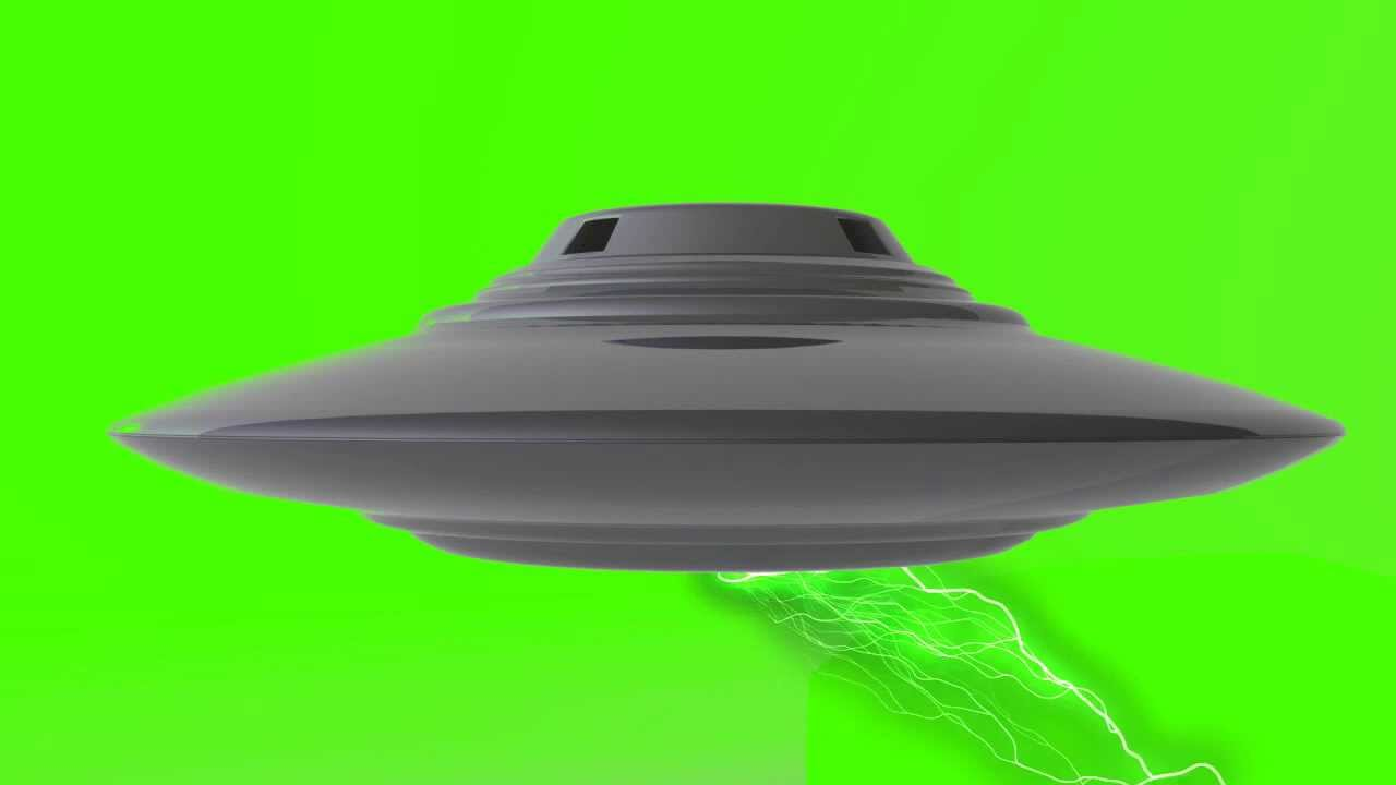 Ufo Alien Spaceship In Green Screen Free Stock Footage