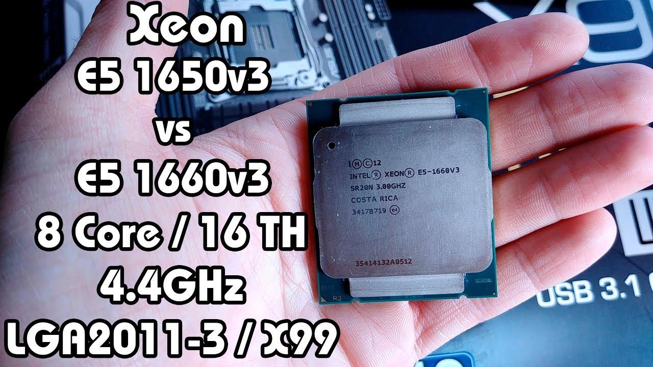 Тест невероятного E5 1660v3, сравнение с 1650v3. Яркое продолжение линейки Xeon E5 1600
