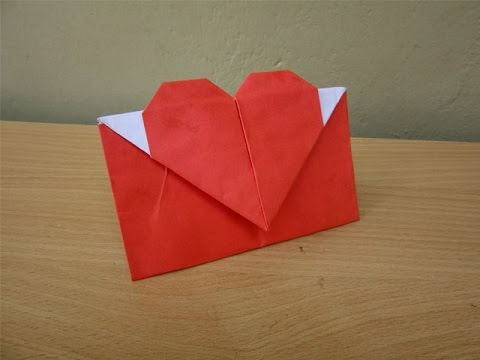 How to Make a Paper Envelope with Heart - Easy Tutorials - YouTube