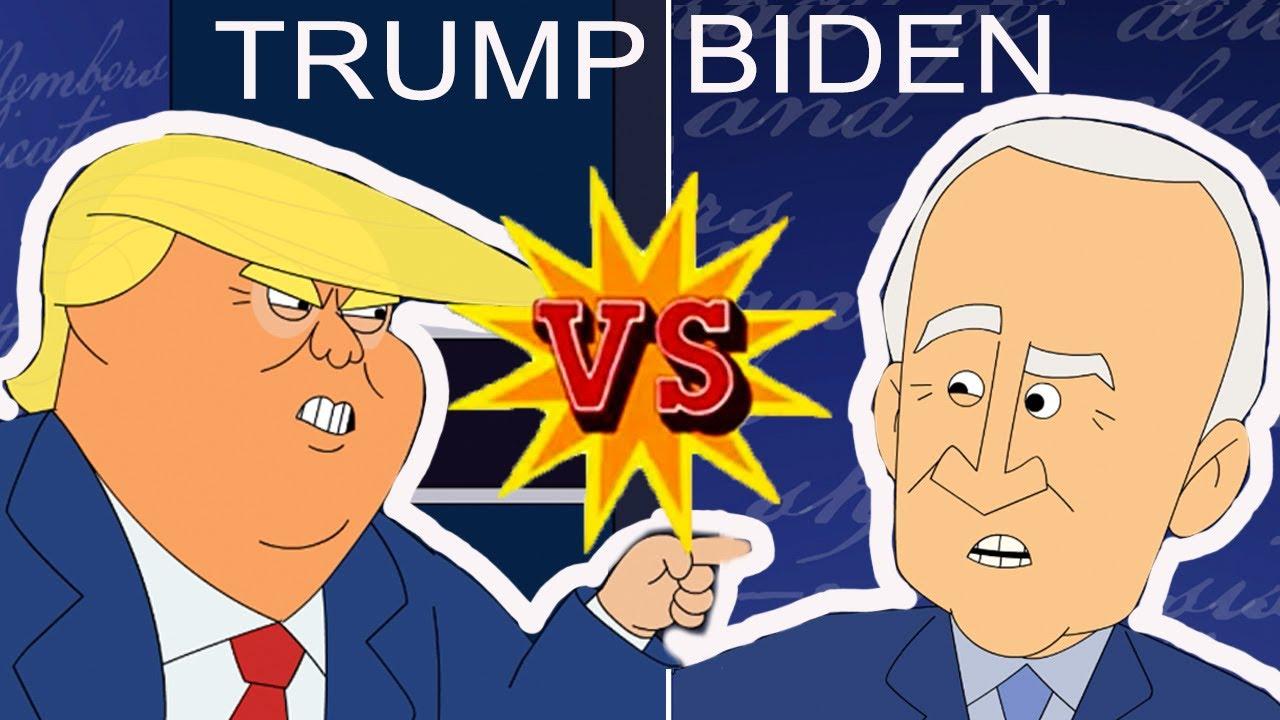Trump vs Biden | Cartoon Rap Battle