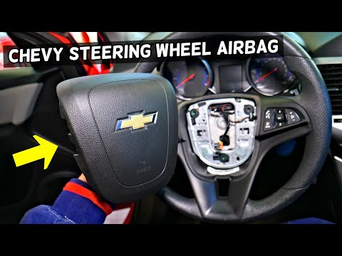 HOW TO REMOVE REPLACE STEERING WHEEL AIRBAG ON CHEVROLET CRUZE SONIC TRAX EQUINOX MALIBU CAMARO