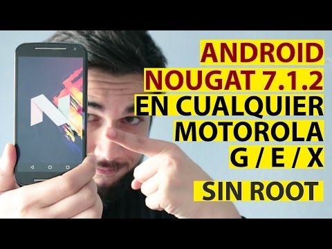 How install Android Nougat 7.1.2 in all Motorola Moto G, Moto E and Moto X [No root]