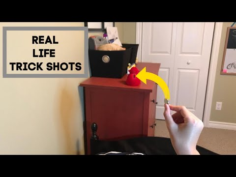 Real Life Trick Shots | Our First Video! | Lights Out
