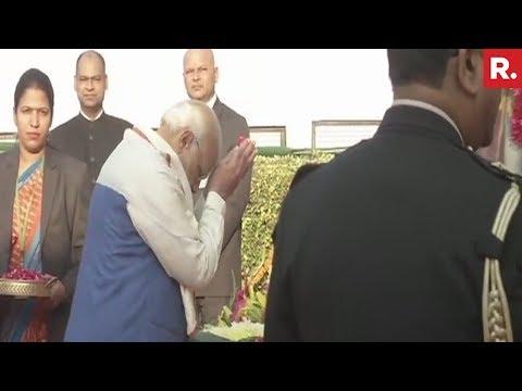 Prime Minister Narendra Modi Pays Floral Tribute To BR Ambedkar