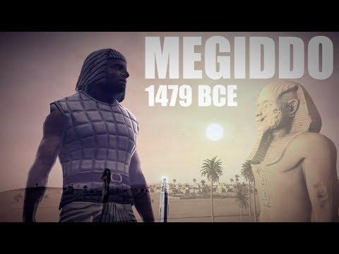 BATTLE OF MEGIDDO:  FIRST BATTLE RECORDED BY AN EYEWITNESS - 11 000 EGYPTIANS vs. 8 000 REBELS