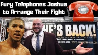Hilarious Outcome When Fury Telephoned Joshua To Arrange Their Fight : Joshua Vs Tyson (2018)