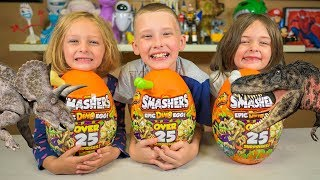 ZURU Smashers Epic Dino Egg Toys HUGE Fun Dinosaur Surprise Eggs Toy Review by Kinder Playtime