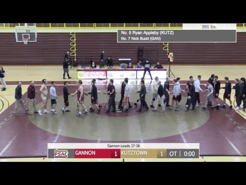 REPLAY: Wrestling vs. Gannon (1-20-18)