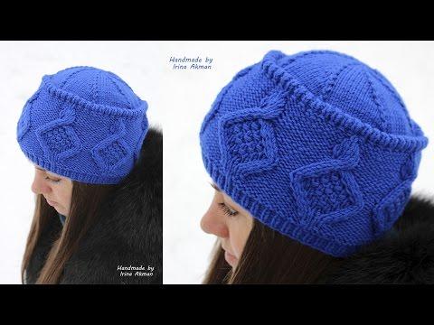 Как связать шапку двумя спицами мк убавление петель шапки