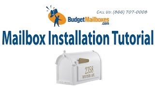 How To Install A Whitehall Mailbox, Mailbox Post & Whitehall Address Plaque