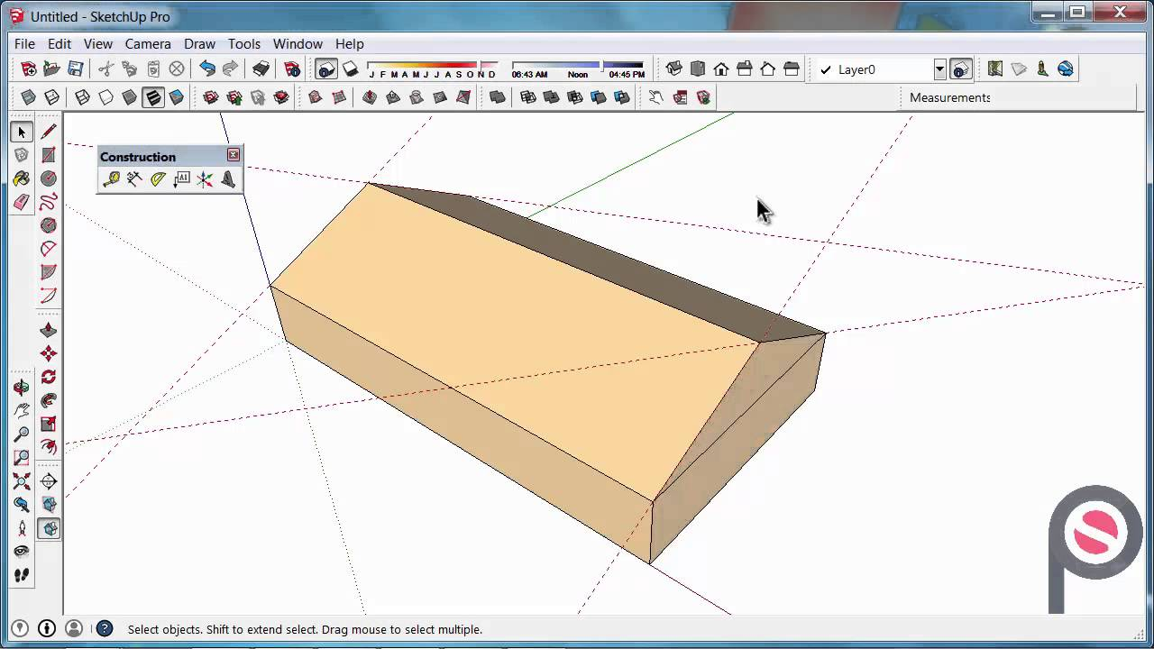 Sketchup How To Delete Construction Lines Youtube